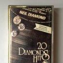 Casetes antiguos: NEIL DIAMOND - 20 DIAMOND HITS - CINTA CASSETTE - MCA RECORDS - 1979. Lote 80252633