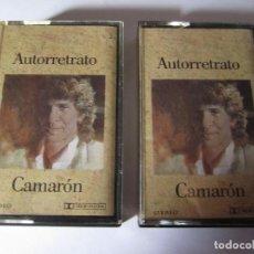 Casetes antiguos: DOBLE CASETE CAMARON AUTORRETRATO AÑO 1990. Lote 81058768