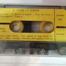 Casetes antiguos: RARA CASETE THE BEATLES R STARR Y J LENNON 1974 MADE IN ITALY. Lote 81674212