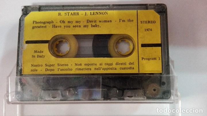 Casetes antiguos: RARA CASETE THE BEATLES R STARR Y J LENNON 1974 MADE IN ITALY - Foto 2 - 81674212