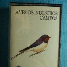 Casetes antiguos: CINTA DE CASSETTE - CASETE - AVES NUESTROS CAMPOS - 1990 - LOS CANTOS DE 69 ESPECIES DE AVES - ALOSA. Lote 83166464