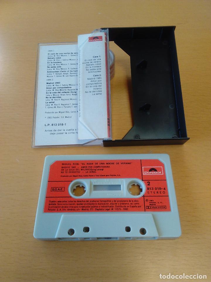 Casetes antiguos: Cassette - Casete - El rock de una noche de verano - Miguel Rios - 1983. Estado de lujo. Impecable - Foto 2 - 84190548