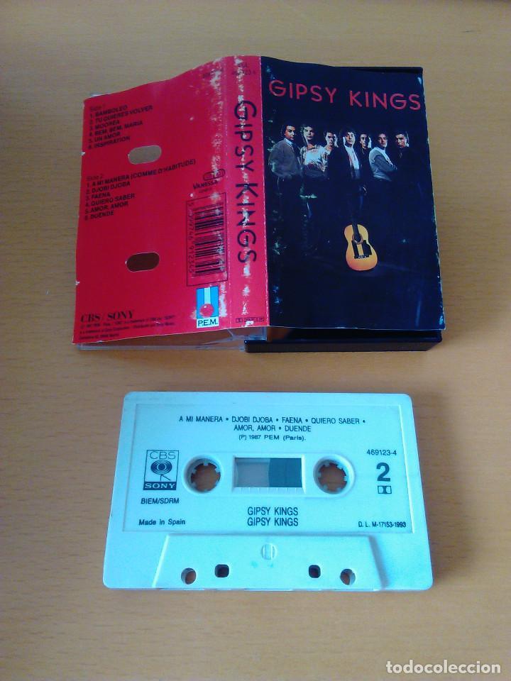 Casetes antiguos: Cassette - Casete - Gipsy Kings - 1987. Cinta impecable. Caratula con señales de uso - Foto 2 - 84192168