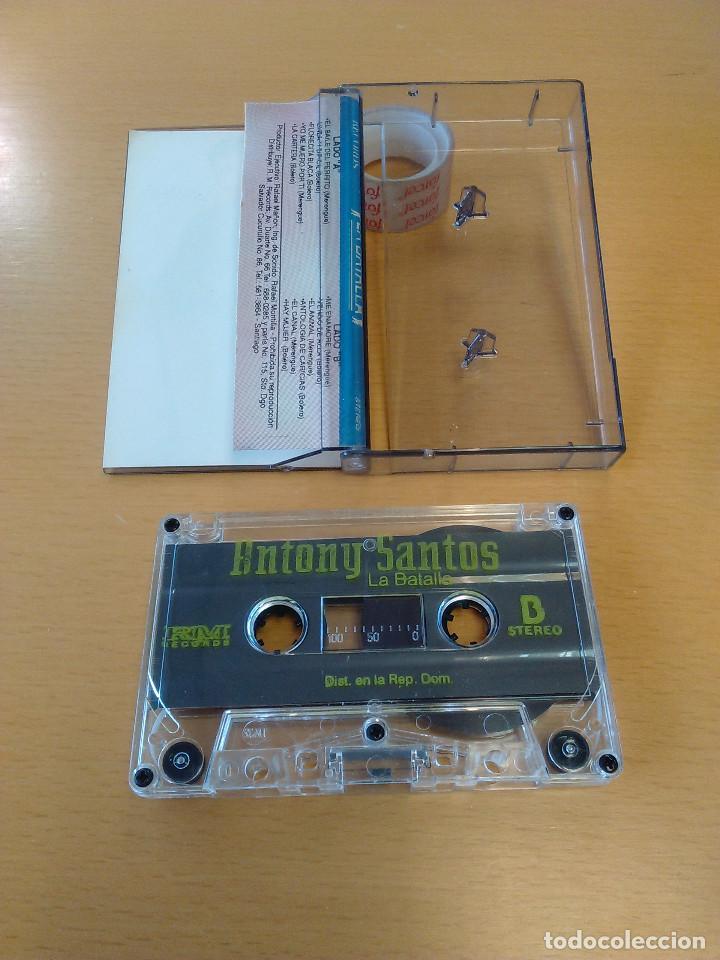 Casetes antiguos: Cassette - Casete - La batalla - Antony Santos. Venta exclusiva en Republica Dominicana. Nueva - Foto 2 - 84194280