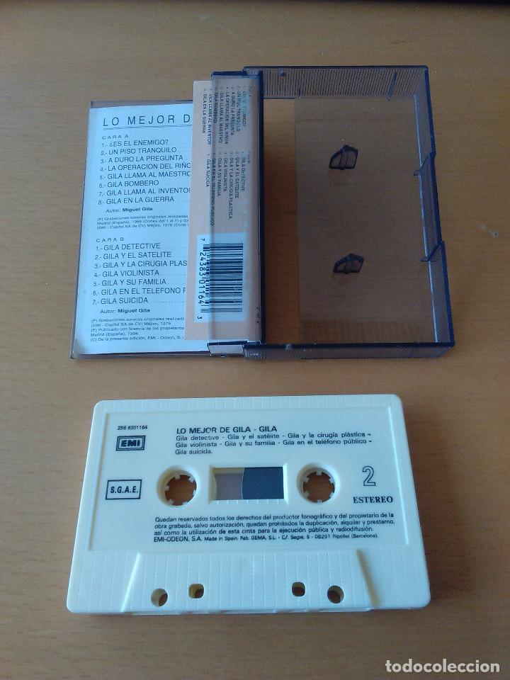 Casetes antiguos: Cassette - Casete - Lo mejor de Gila - 1994. Cinta en estado impecable. Caratula con señales de uso - Foto 2 - 84195112