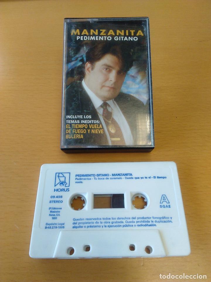 CASSETTE - CASETE - PEDIMENTO GITANO - MANZANITA - 1995. CINTA PERFECTO ESTADO. CARATULA SEÑALES USO (Música - Casetes)