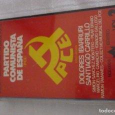 Casetes antiguos: HABLAN LOS PARTIDOS VOL. 8 PARTIDO COMUNISTA PCE- S. CARRILLO.1977 PRIMERAS ELECCIONES DEMOCRATICAS. Lote 84196752