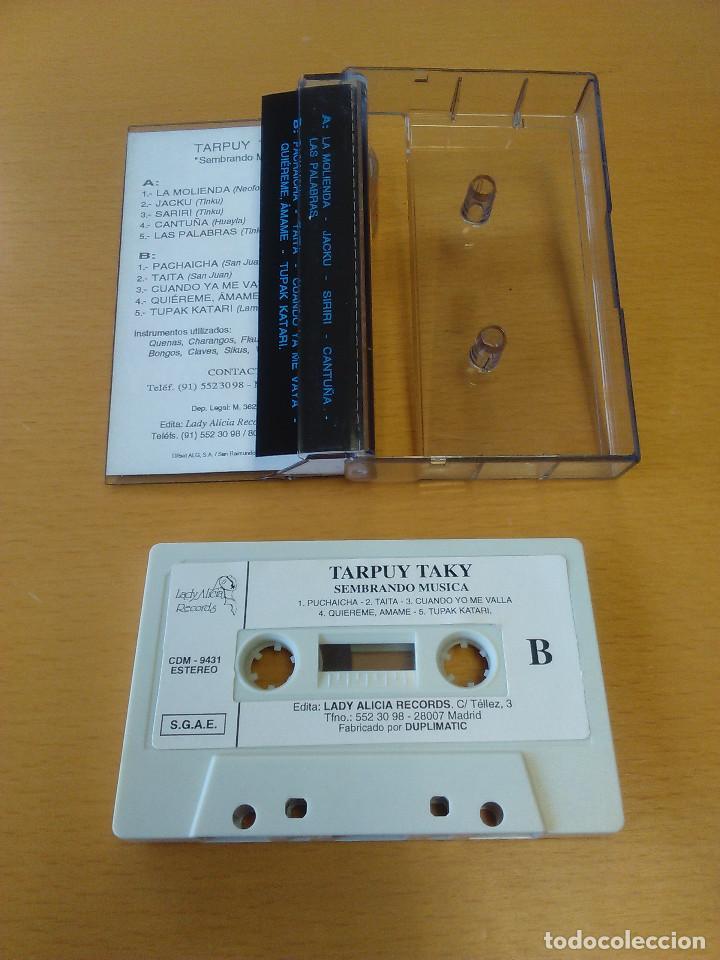 Casetes antiguos: Cassette - Casete - Sembrando musica - Tarpuy Taky (Ecuador - Peru). Estado de lujo. A estrenar - Foto 2 - 84286464