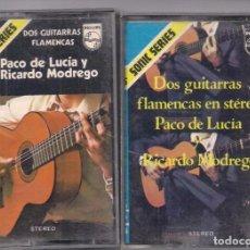 Casetes antiguos: PACO DE LUCÍA Y RICARDO MODREGO. DOS GUITARRAS FLAMENCAS. Lote 84429284