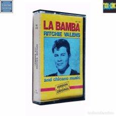 Casetes antiguos: LA BAMBA / RITCHIE VALENS / CINTA CASETE CASSETTE / TWINS YELSA 1987 (STEREO). Lote 86425892