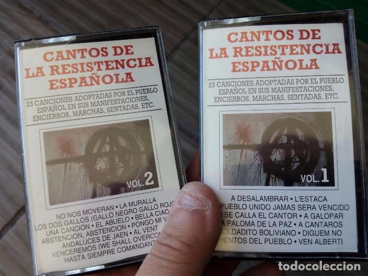 2 CINTAS CASSETE CANTOS DE LA RESISTENCIA ESPAÑOLA (Música - Casetes)