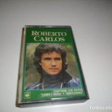 Cassettes Anciennes: CAJ-9 CASETE ROBERTO CARLOS CAMA Y MESA EMOCIONES. Lote 86503508