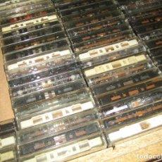 Casetes antiguos: CASETES, LOTE DE 125 CASETES - ESTÁN GRABADAS PERO NO SON ORIGINALES. Lote 87539340