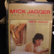 Casetes antiguos: MICK JAGGER - SHE'S THE BOSS (CBS 1985) CASSETTE. Lote 93040475