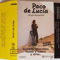Casetes antiguos: CASETTE PACO DE LUCÍA LARGA DURACIÓN. Lote 93960339