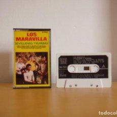 Casetes antiguos: CASETE - LOS MARAVILLA - SEVILLANAS Y RUMBAS - 1988 - K7 - TAPE - CASETTE. Lote 96020647