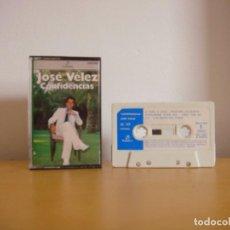 Casetes antiguos: CASETE - JOSE VELEZ - CONFIDENCIAS - 1980 - K7 - TAPE - CASETTE. Lote 96021439