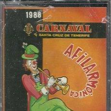 Casetes antiguos: CASETE AFILARMÓNICA NI FU NI FA 1988.CARNAVAL SANTA CRUZ DE TENERIFE.CANARIAS.. Lote 96666239