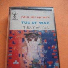 Casetes antiguos: PAUL MCCARTNEY TUG OF WAR CASSETTE SPAIN 1982 PDELUXE. Lote 97291463