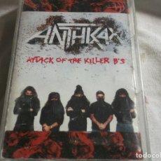 Cassette antiche: ANTHRAX-ATTACK OF THE KILLER B,S-EDICION ESPAÑOLA. Lote 99061875