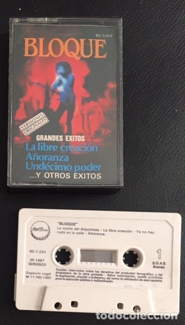 CINTA CASSETTE CASSETE CASETTE BLOQUE GRANDES EXITOS (Música - Casetes)