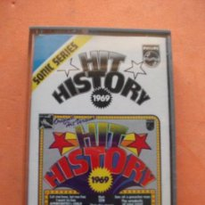 Casetes antiguos: VARIOS - HIT HISTORY 1969 HIT HISTORY 1969 CASSETTE SPAIN 1975 PDELUXE. Lote 100243671