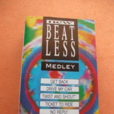 Casetes antiguos: NEW BEATLESS - BEATLES COVER MEDLEY THE BEATLES CASSETTE SPAIN 1990 PDELUXE. Lote 100244143