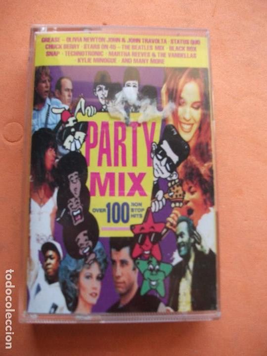 VARIOS - PARTY MIX (BEATLES MEDLEY) OVER 100 NON STOP MUSICA CASSETTE SPAIN 1991 PDELUXE (Música - Casetes)