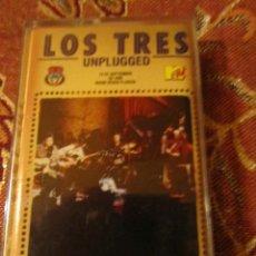 Cassettes Anciennes: LOS TRES- CASSETTE- TITULO UNPLUGGED- CON 15 TEMAS- ORIGINAL DEL 95- CHILE- NUEVO. Lote 234136055