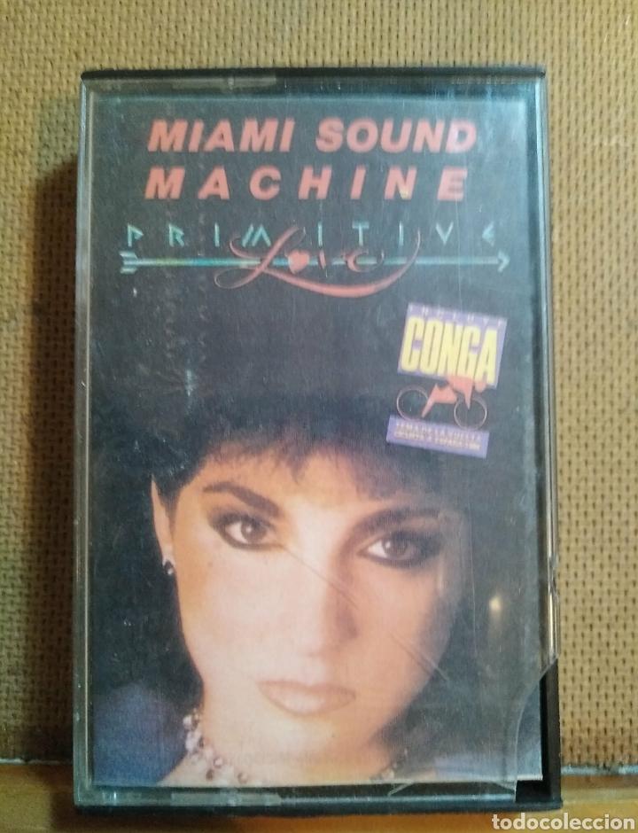 CASETE MIAMI SOUND MACHINE, PRIMITIVE. 1986. TEMA VUELTA CICLISTA A ESPAÑA. EPIC, CBS. (Música - Casetes)