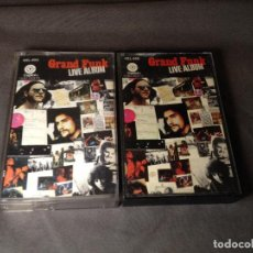 Casetes antiguos: GRAND FUNK RAILROAD LIVE ALBUM DOBLE CASETE. Lote 103137535