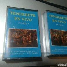 Casetes antiguos: 2 CASETES MUSICA CANARIA( TENDERETE EN VIVO). Lote 104229131