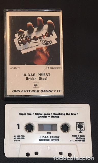 CINTA CASSETTE CASETE CASSETE CASETTE JUDAS PRIEST BRITISH STELL EDICION ESPAÑOLA DE 1980 (Música - Casetes)