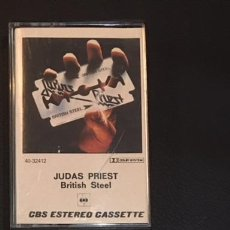 Casetes antiguos: CINTA CASSETTE CASETE CASSETE CASETTE JUDAS PRIEST BRITISH STELL EDICION ESPAÑOLA DE 1980. Lote 104424091
