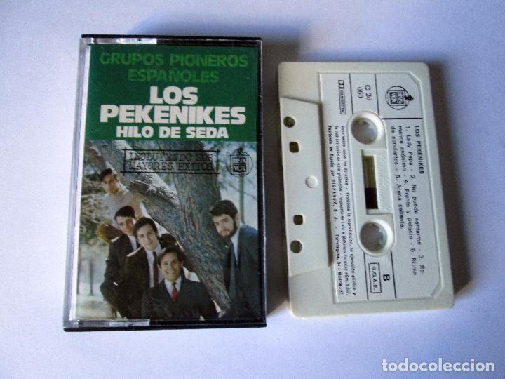 LOS PEKENIKES - HILO DE SEDA - CASSETTE 12 TEMAS - GRUPOS PIONEROS ESPAÑOLES - HISPAVOX 1978 SPAIN (Música - Casetes)