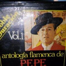 Casetes antiguos: PEPE MARCHENA. ANTOLOGÍA FLAMENCA. VOLUMEN 1. 1977. Lote 105035175