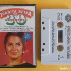 Casetes antiguos: JUANITA REINA - SUS 20 COPLAS DE ORO MUSICA CINTA CASETE. Lote 105280527