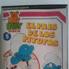 Casetes antiguos: CASTETE INFANTIL/EL PAIS DE LOS PITUFOS/BABY DISCO VOL.5.. Lote 105681939
