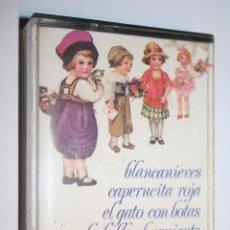 Casetes antiguos: CUENTOS: BLANCANIEVES, LA BELLA DURMIENTE, CAPERUCITA ROJA, ... *** CASETE INFANTIL *** AÑO 1976. Lote 106548463
