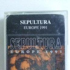 Casetes antiguos: CASETE HEAVY METAL/SEPULTURA/EUROPE 1991.. Lote 106548843