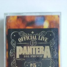 Casetes antiguos: CASETE HEAVY METAL/PANTERA/OFFICIAL LIVE 101 PROOF .. Lote 106549027