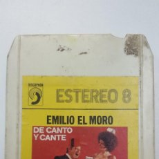 Casetes antiguos: EMILIO EL MORO DE CANTO Y CANTE CARTUCHO STEREO 8 PISTAS . Lote 111585067