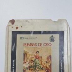Casetes antiguos: RUMBAS DE ORO CARTUCHO STEREO 8 PISTAS . Lote 111588527