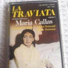 Casetes antiguos: MARÍA CALLAS LA TRAVIATA VOLUMEN 2 PRECINTADA. Lote 112944279