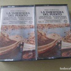 Casetes antiguos: 2 CASETE LA TABERNERA DEL PUERTO PABLO SOROZABAL ALFREDO KRAUS RENATO CESARI LEDA BARCLAY. Lote 113737847
