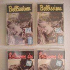 Casetes antiguos: LOTE # 4 CASETTES: BELLISSIMA + BELLISSIMA DOS. Lote 114287659