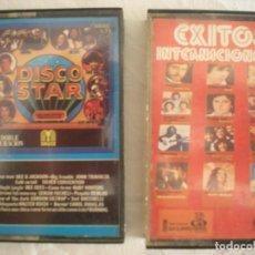 Casetes antiguos: LOTE # 2 CASETTES: DISCO STAR + EXITOS INTERNACIONALES. Lote 114293083