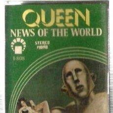 Casetes antiguos: CASETE QUEEN : NEWS OF THE WORLD ( EDICION MUY RARA I-808) . Lote 114382947
