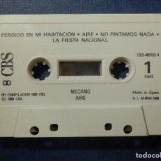 Casetes antiguos: CINTA DE CASSETTE - CASETE - MECANO - AIRE - CBS - 1989 . Lote 114660403
