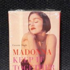 Casetes antiguos: MADONNA - KEEP IT TOGETHER- CASSETTE SINGLE - USA- EXCELENTE ESTADO. Lote 115490995
